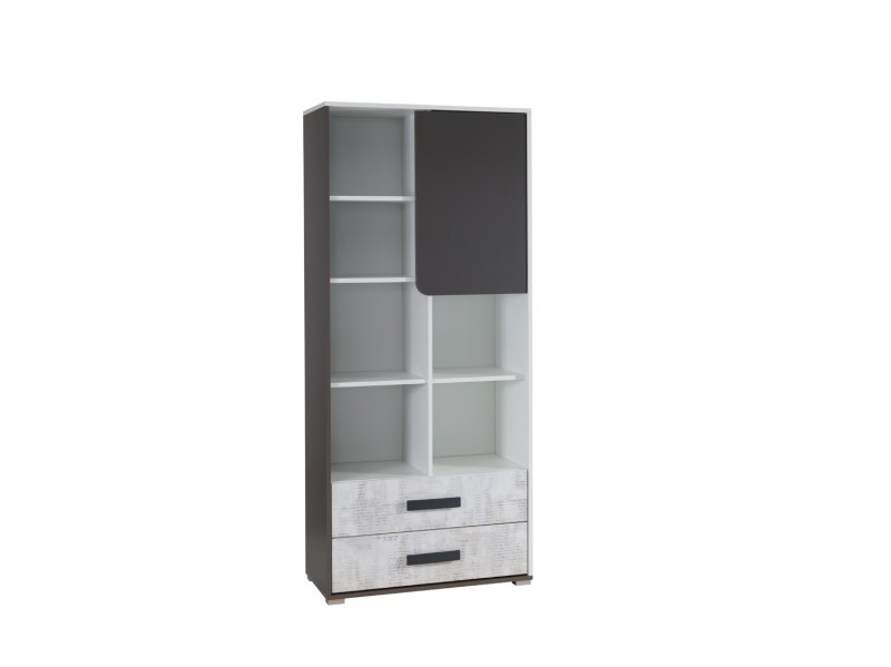 BU2 - Bookcase with 2 drawers BRUNO