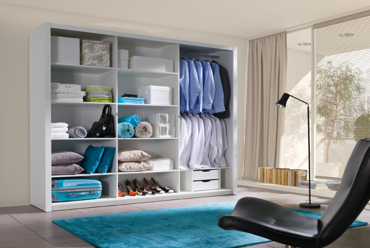 Sliding Door Wardrobe LONDON 250 interior
